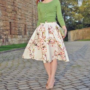 (NWOT) Choies Pleated Sakura Skater Skirt